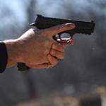 Gun being fired