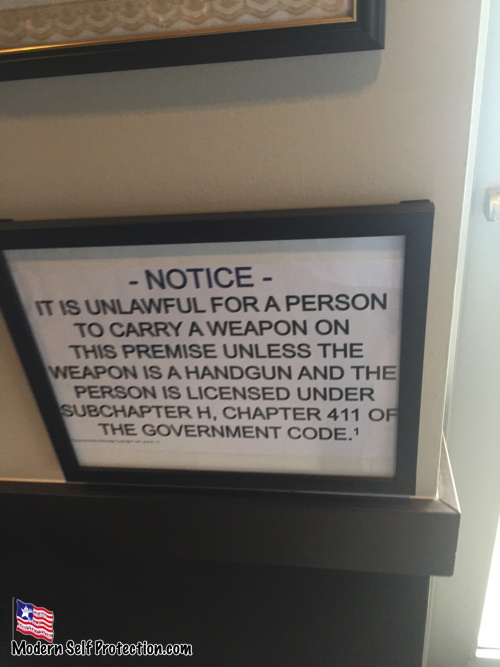 Starbucks Gun Sign